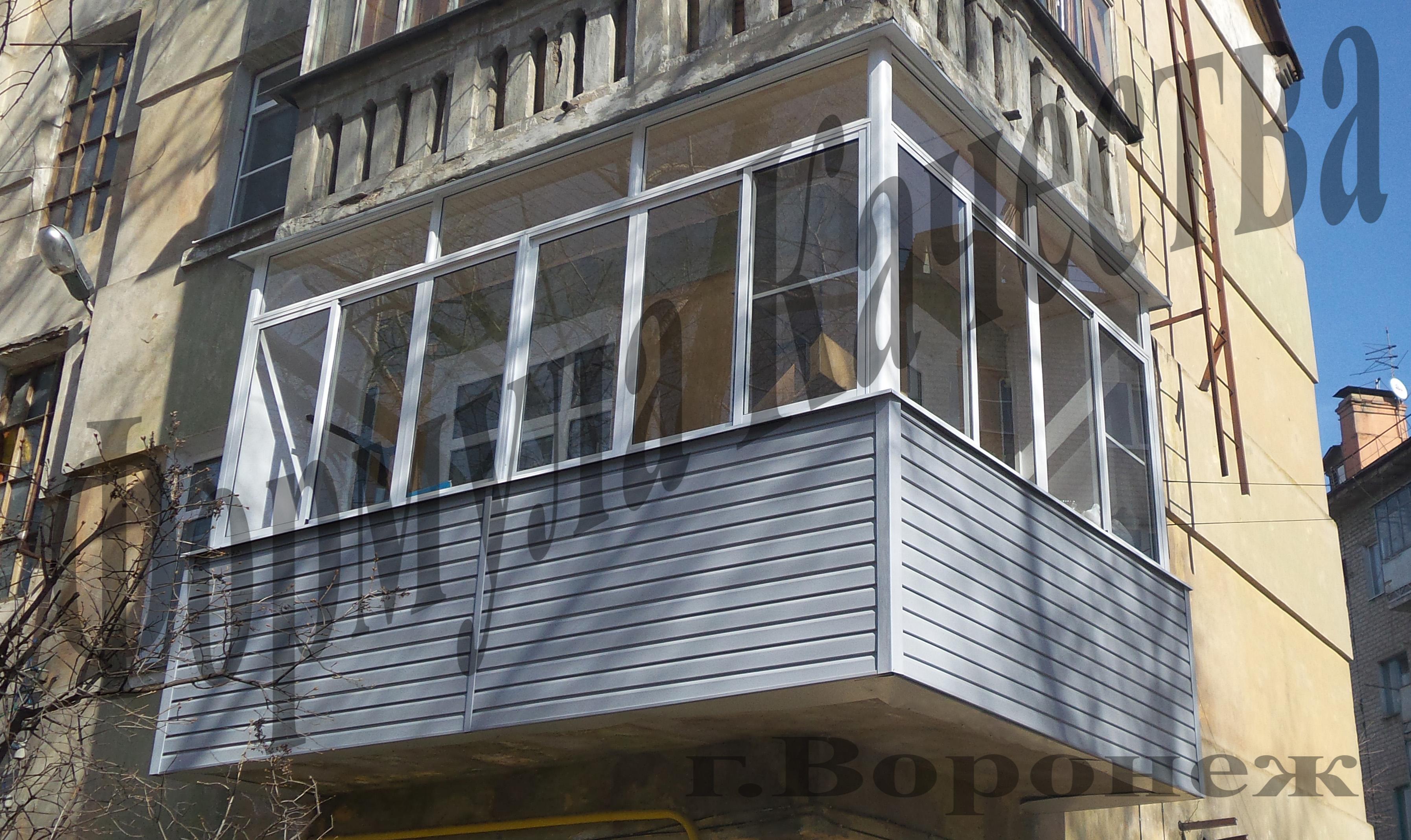 """Алюминиевые балконные рамы от 20500.00 руб. от компании """"фор."""